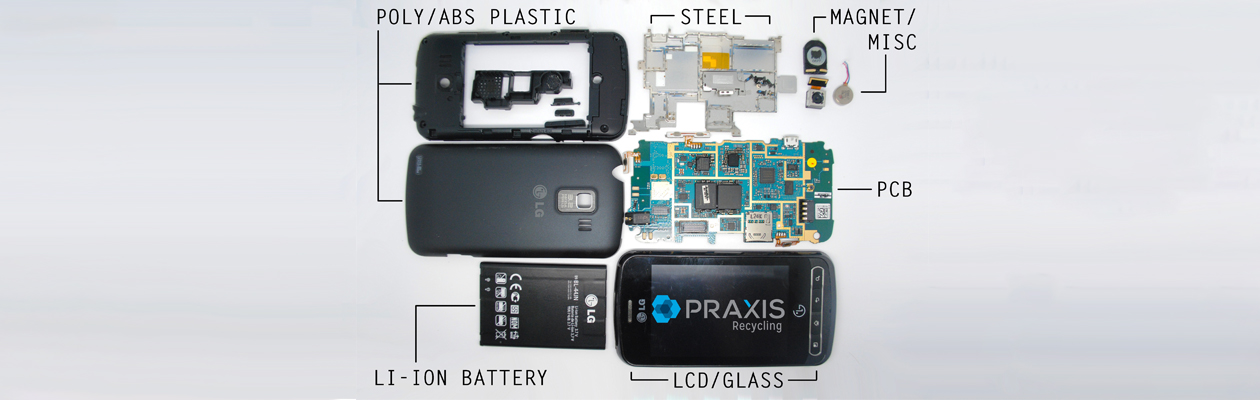 Cell Phone Breakdown Teardown Components