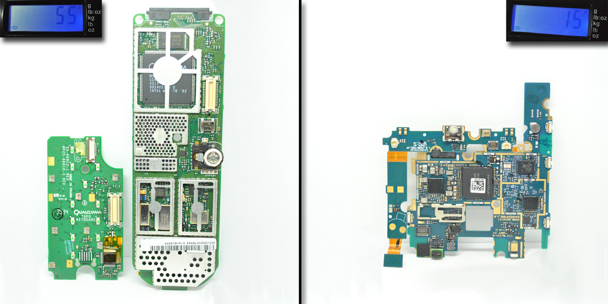New vs Old Cell Phone Circuit Board
